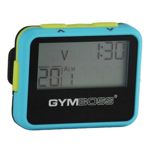 Zegar / stoper interwałowy GYMBOSS (niebiesko-żółty) (1)