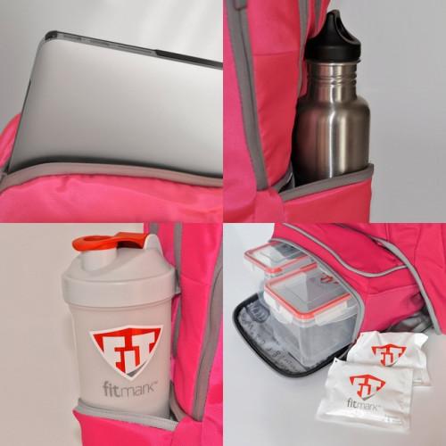 ENVOY BACKPACK FITMARK - Plecak sportowy + 2 posiłki (różowy) (5)