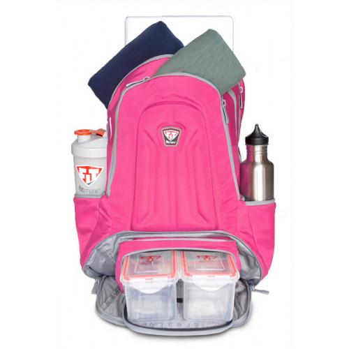 ENVOY BACKPACK FITMARK - Plecak sportowy + 2 posiłki (różowy) (7)