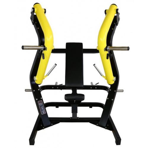 Maszyna Wide Chest Press do treningu klatki piersiowej, tricepsów i przednich naramiennych (wyciskanie szerokie) GOLD LINE (3)