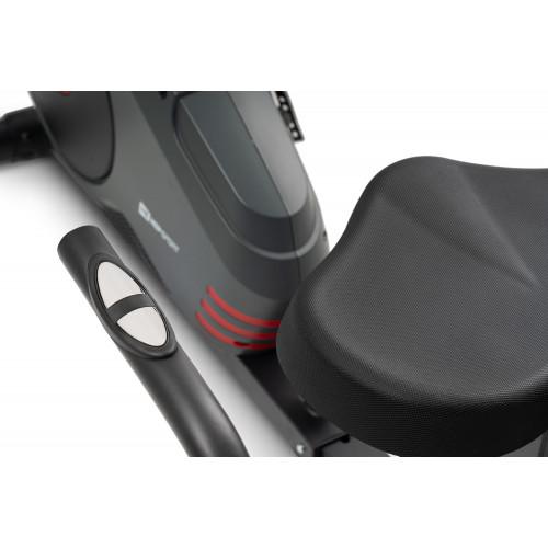 Rower leżący HS-050L Hawk Hop Sport (szaro-czerwony) (7)