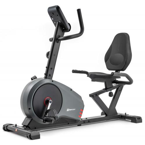 Rower leżący HS-050L Hawk Hop Sport (szaro-czerwony) (4)