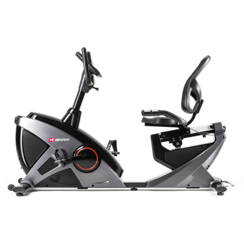 Rower elektryczno magnetyczny leżący HS-070L Helix z IConsole+ Hop Sport (szary) (3)