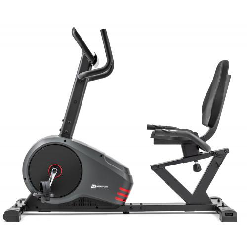 Rower leżący HS-050L Hawk Hop Sport (szaro-czerwony) (3)