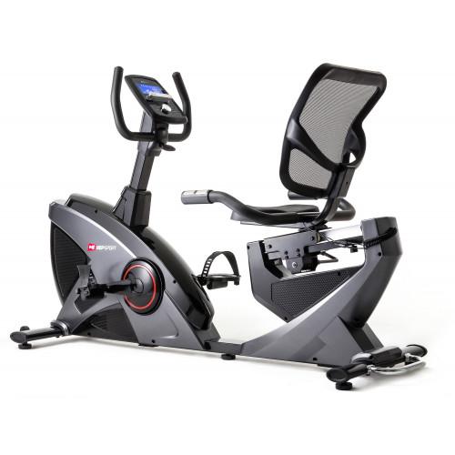 Rower elektryczno magnetyczny leżący HS-070L Helix z IConsole+ Hop Sport (szary) (1)