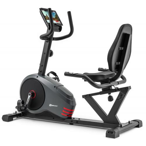 Rower leżący HS-050L Hawk Hop Sport (szaro-czerwony) (1)