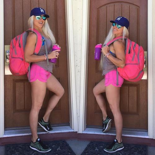 ENVOY BACKPACK FITMARK - Plecak sportowy + 2 posiłki (różowy) (10)