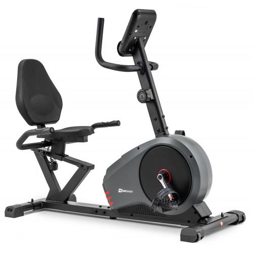 Rower leżący HS-050L Hawk Hop Sport (szaro-czerwony) (5)
