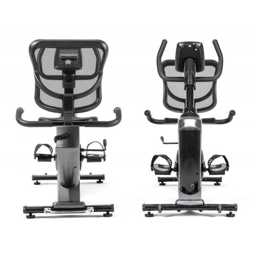 Rower elektryczno magnetyczny leżący HS-070L Helix z IConsole+ Hop Sport (szary) (4)