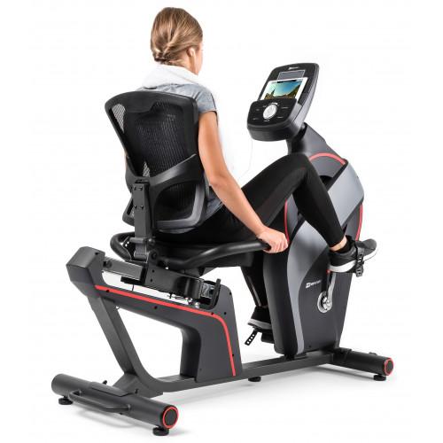 Rower elektryczno-magnetyczny leżący HS-200L Dust iConsole+ Hop Sport  (9)