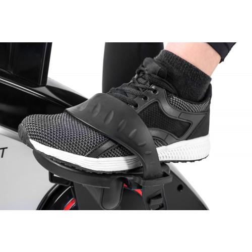 Rower elektryczno magnetyczny leżący HS-070L Helix z IConsole+ Hop Sport (szary) (9)