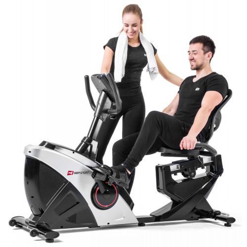 Rower elektryczno magnetyczny leżący HS-070L Helix z IConsole+ Hop Sport (szary) (15)