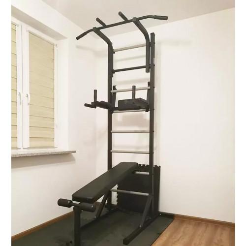 Drabinka gimnastyczna wolnostojąca z ławką OLYMPIC (3)