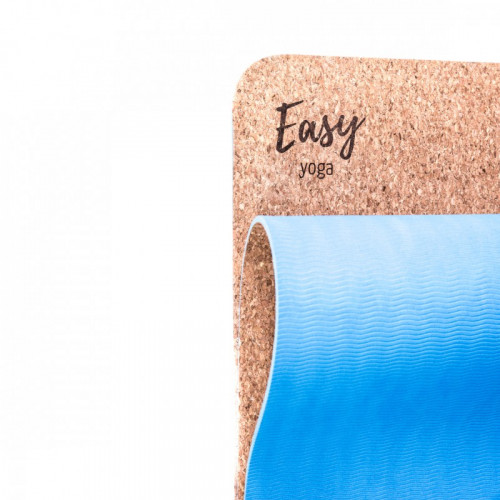 Eco mata do jogi easy korek natural blue (2)
