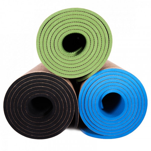 Eco mata do jogi easy korek natural blue (6)