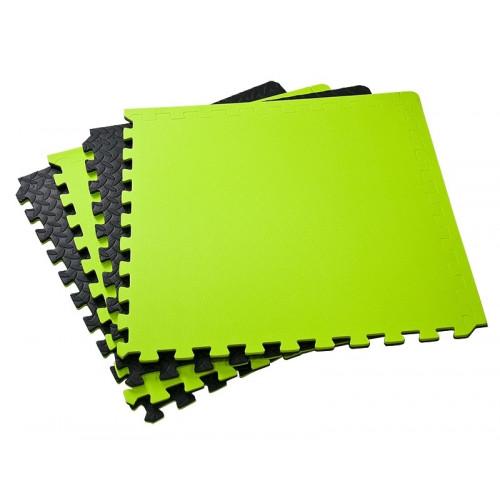 Mata do ćwiczeń puzzle Allright (czarna / zielona) (1)
