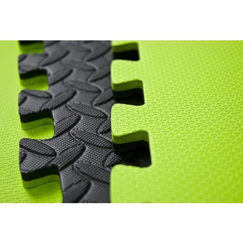 Mata do ćwiczeń puzzle Allright (czarna / zielona) (2)