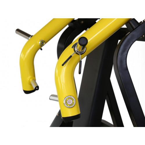 Maszyna Incline Chest Press do treningu górnych mięśni klatki piersiowej i ramion GOLD LINE (4)