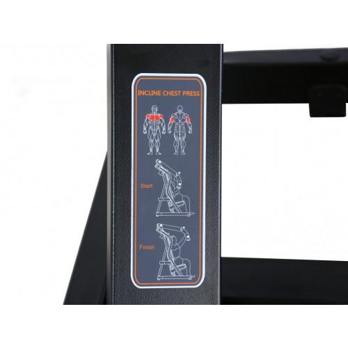 Maszyna Incline Chest Press do treningu górnych mięśni klatki piersiowej i ramion GOLD LINE (9)