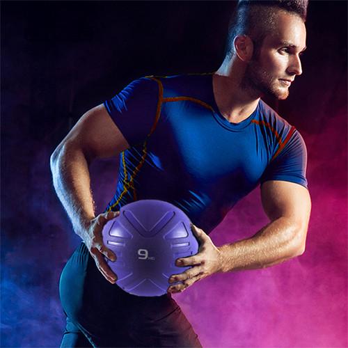 Piłka lekarska MEDICINE BALL BLACK 4 kg - PROUD (6)