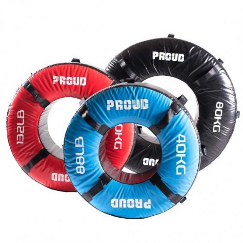 Opona treningowa 60 kg - PROUD (czerwona) (4)
