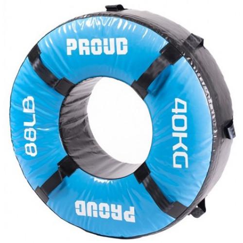 Opona treningowa 40 kg - PROUD (niebieska) (1)