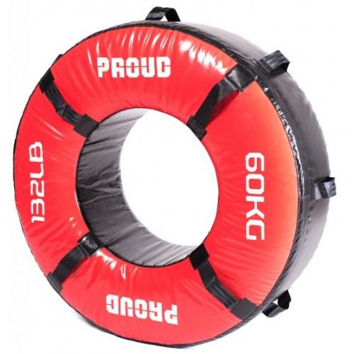 Opona treningowa 60 kg - PROUD (czerwona) (1)