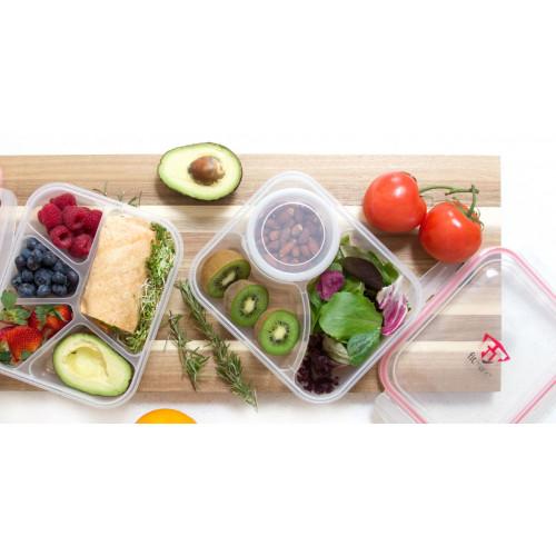 Pojemnik na posiłek - Bento Box - FITMARK (3 przegródki + pojemniczek)  (5)
