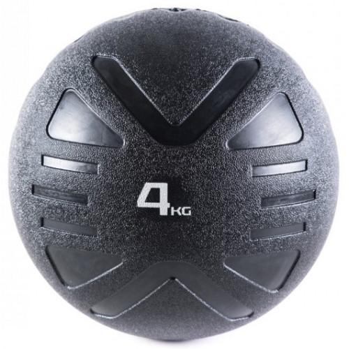 Piłka lekarska MEDICINE BALL BLACK 4 kg - PROUD (1)