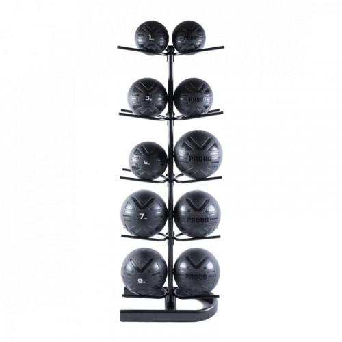 Piłka lekarska MEDICINE BALL BLACK 4 kg - PROUD (8)