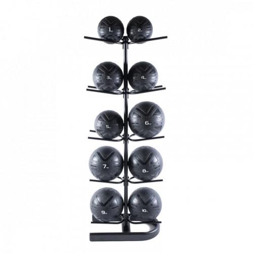 Piłka lekarska MEDICINE BALL BLACK 4 kg - PROUD (7)