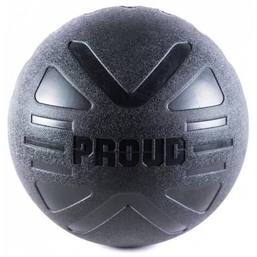 Piłka lekarska MEDICINE BALL BLACK 4 kg - PROUD (2)