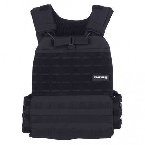 Obciążeniowa kamizelka do ćwiczeń Tactic Weight Vest (black, 20LB) THORN+FIT (2)