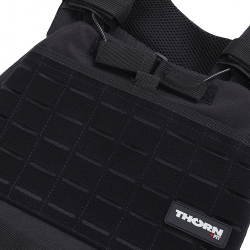 Obciążeniowa kamizelka do ćwiczeń Tactic Weight Vest (black, 20LB) THORN+FIT (8)