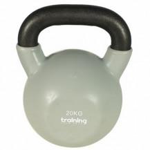 Hantla Żeliwna Kettlebell VINYL 20kg - TSR