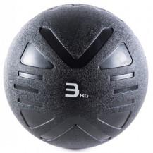 Piłka lekarska MEDICINE BALL BLACK 3 kg - PROUD