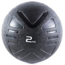 Piłka lekarska MEDICINE BALL BLACK 2 kg - PROUD