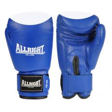 Rękawice bokserskie PVC 12 oz Allright (niebiesko-białe)