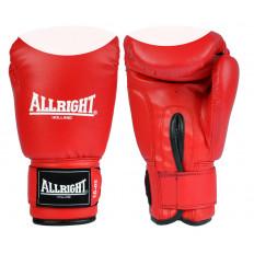 Rękawice bokserskie PVC 8 oz Allright (czerwono-białe)