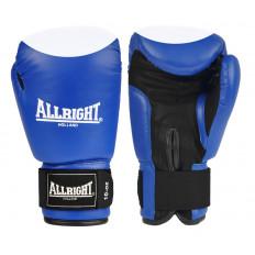 Rękawice bokserskie skóra 10 oz Allright (niebiesko-białe)