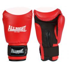 Rękawice bokserskie skóra 8 oz Allright (czerwono-białe)