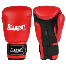 Rękawice bokserskie skóra 12 oz Allright (czerwone)