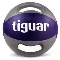 Piłka lekarska z uchwytami 10kg tiguar (bakłażan)