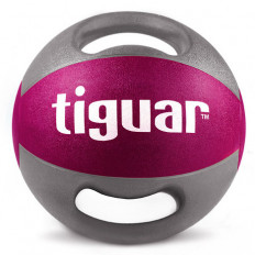 Piłka lekarska z uchwytami 5kg tiguar (śliwka)