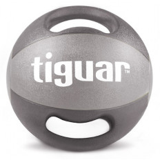 Piłka lekarska z uchwytami 8kg tiguar (jasna szara)
