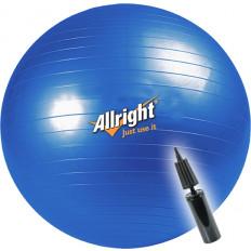 Piłka gimnastyczna śr.55 cm + pompka Allright (niebieska)