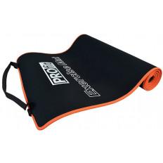 Mata do ćwiczeń 180x60x0,6cm PROFIT (czarno-pomarańczowa)