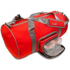 TRANSPORTER DUFFEL FITMARK - Torba sportowa + 2 posiłki (czerwona)