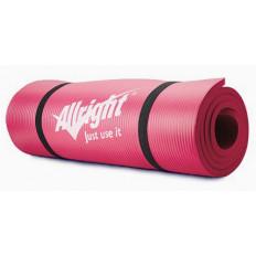 Mata fitness NBR 1,5 cm grubości, 180 cm długości (różowa) Allright