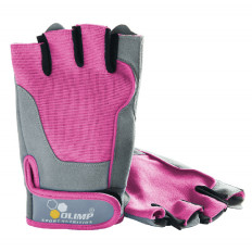 Olimp - Rękawice treningowe - FITNESS ONE (Różowe)